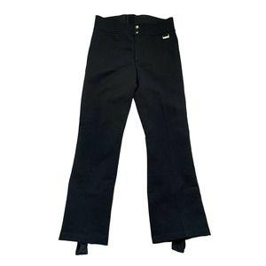VTG EDELWEISS Ski Pants Stirrup Black Size 32 40